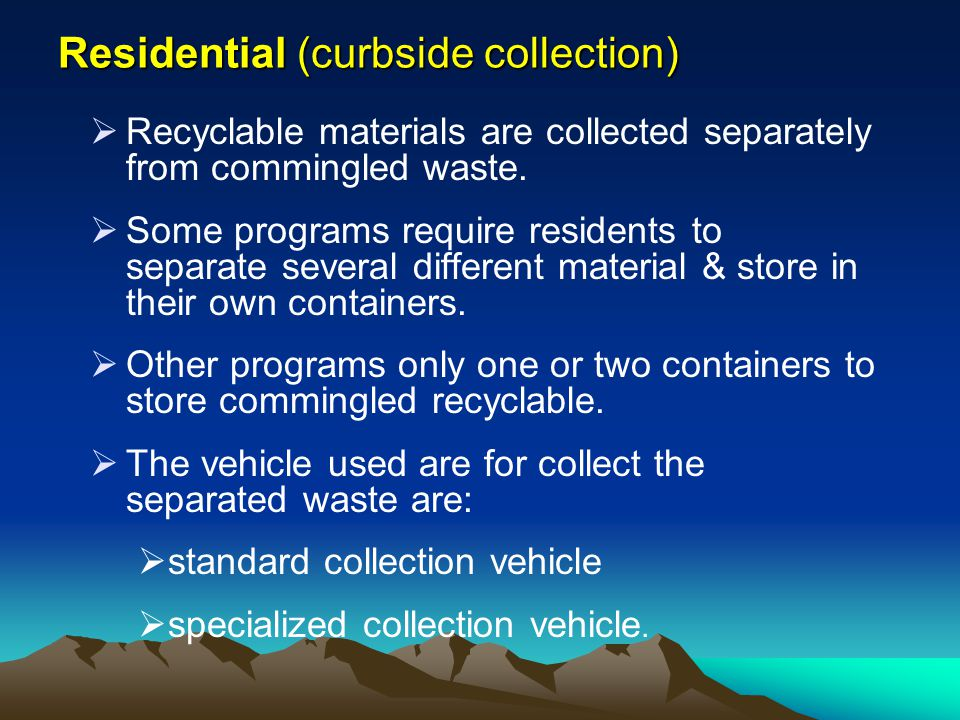 Residential (curbside collection)