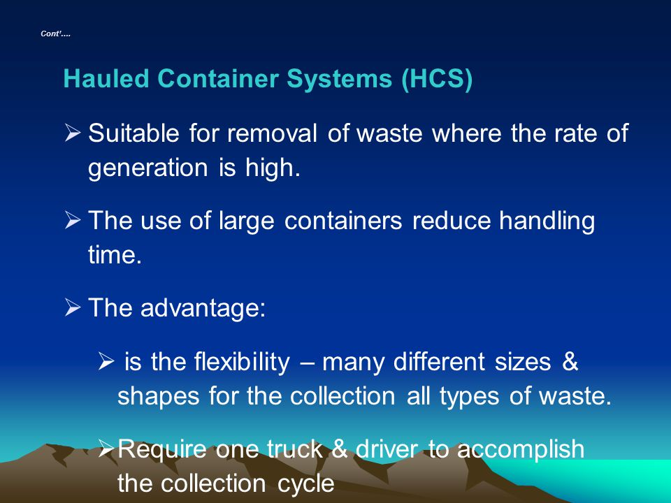 Hauled Container Systems (HCS)