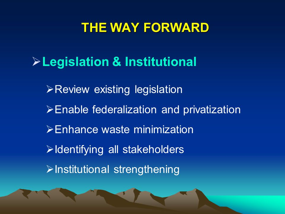Legislation & Institutional
