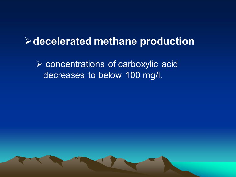 decelerated methane production