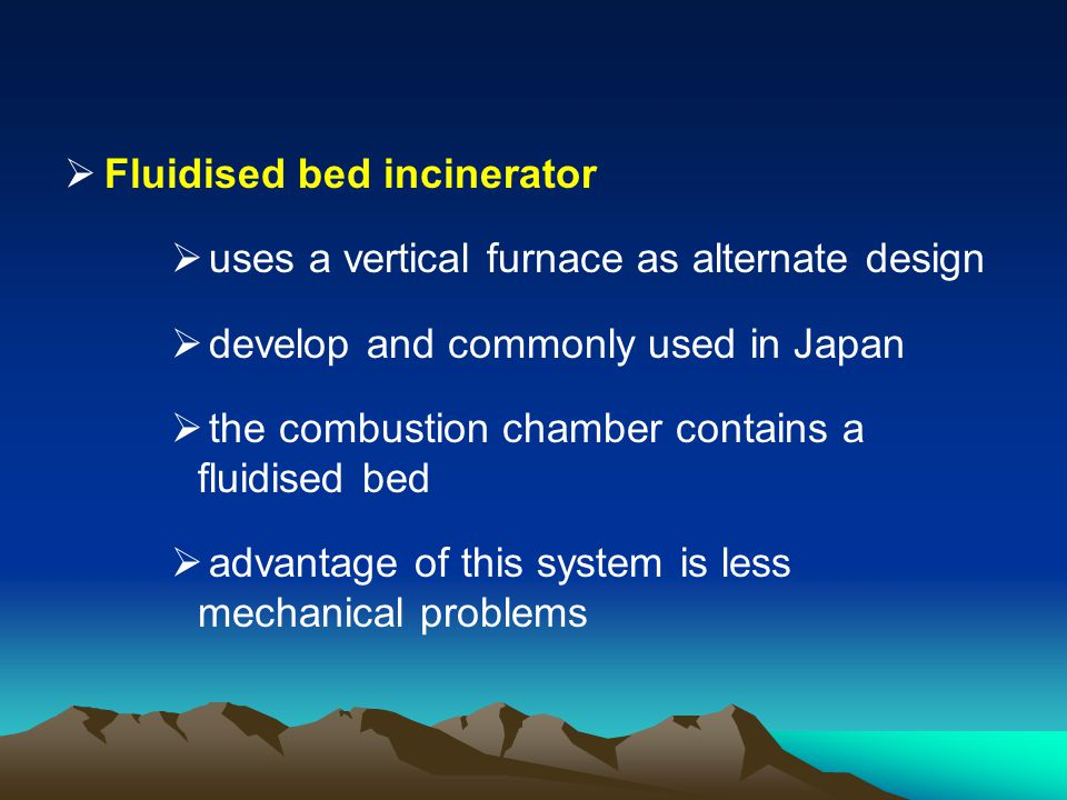 Fluidised bed incinerator