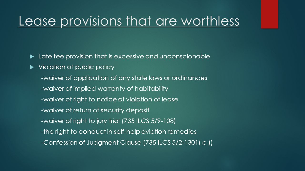 Lease provisions that are worthless
