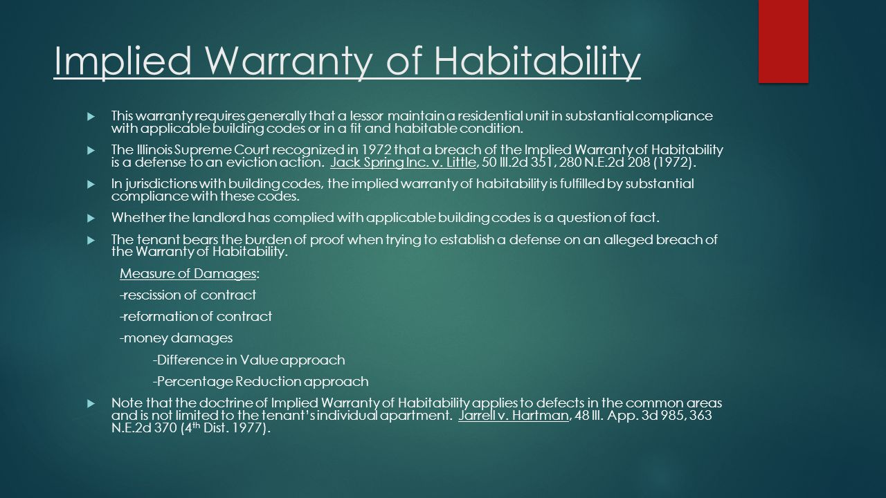 Implied Warranty of Habitability