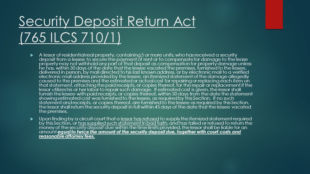 Security Deposit Return Act (765 ILCS 710/1)