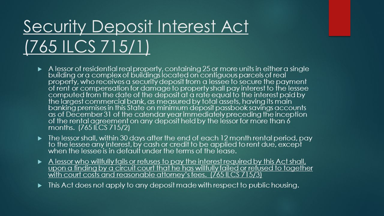 Security Deposit Interest Act (765 ILCS 715/1)