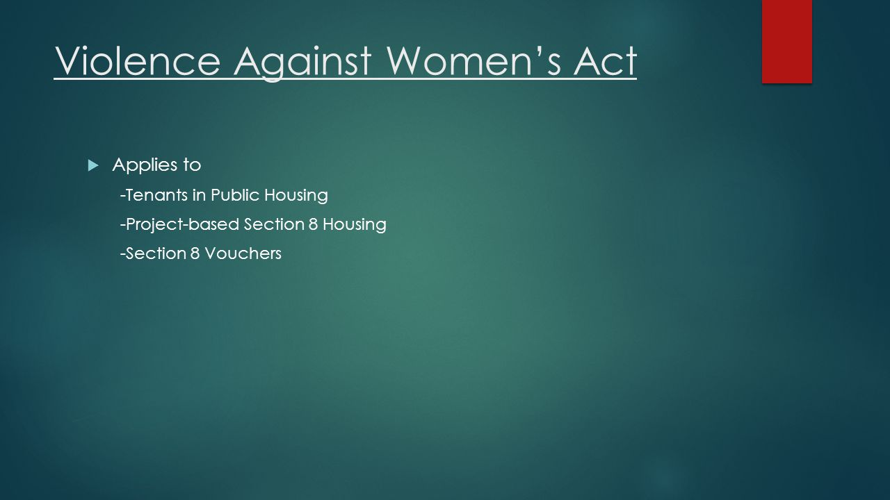 Violence Against Women's Act