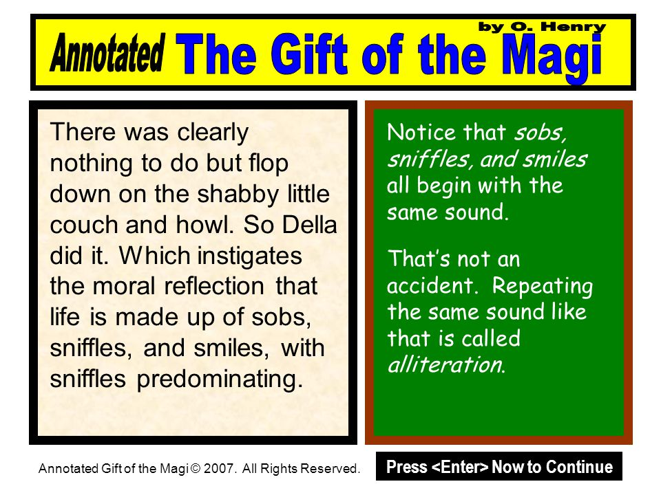 An annotated version the gift of the magi by o henry ppt download by o henry annotated the gift of the magi negle Images