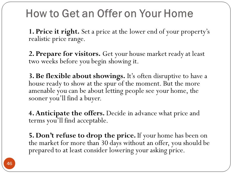 How to Get an Offer on Your Home