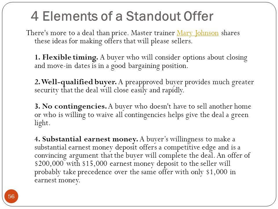 4 Elements of a Standout Offer