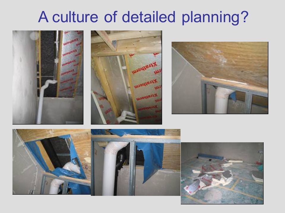 A culture of detailed planning