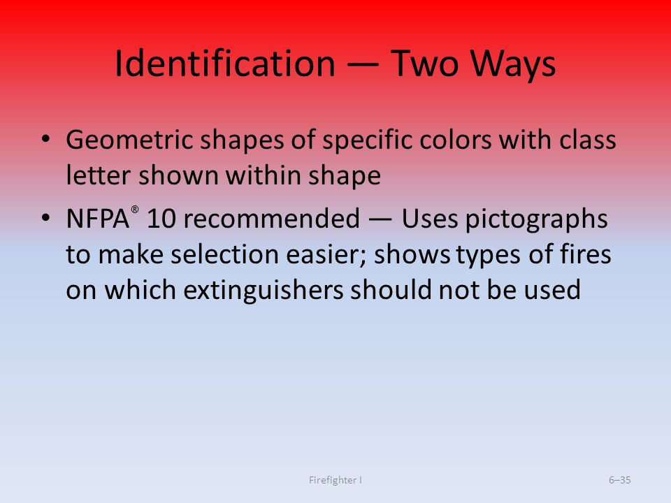 Identification — Two Ways