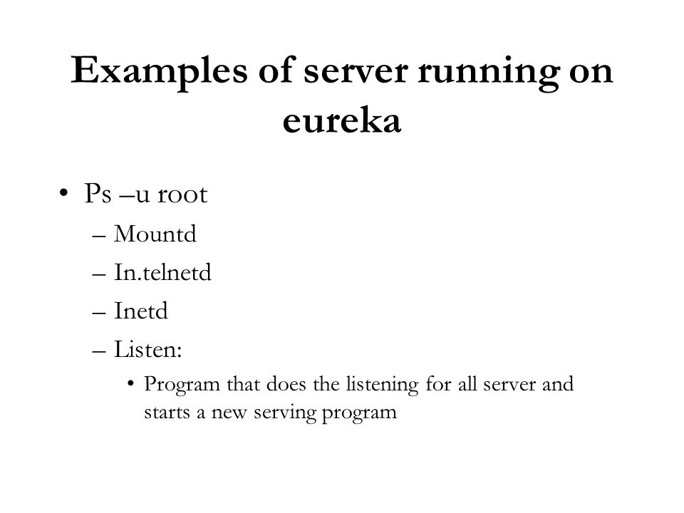 Examples of server running on eureka