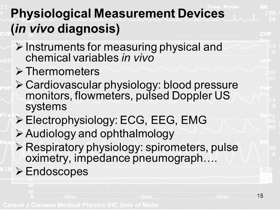 Physiological Measurement Devices (in vivo diagnosis)