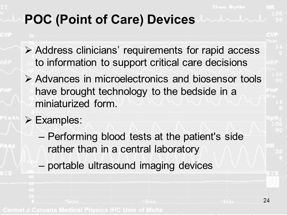 POC (Point of Care) Devices