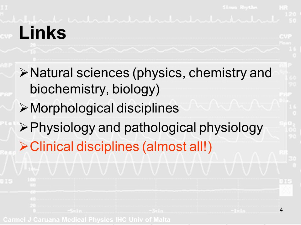 Links Natural sciences (physics, chemistry and biochemistry, biology)