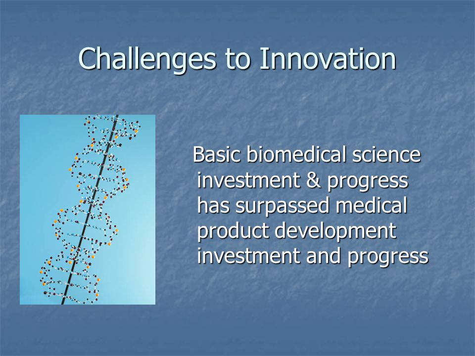 Challenges to Innovation