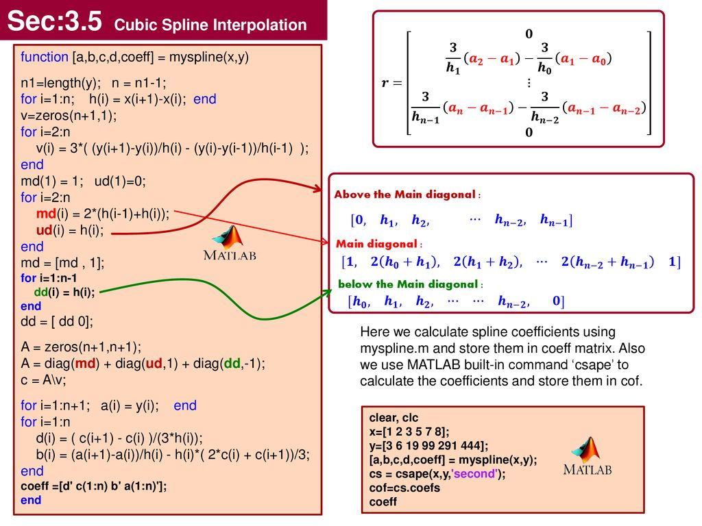 Cubic Spline Interpolation - ppt download