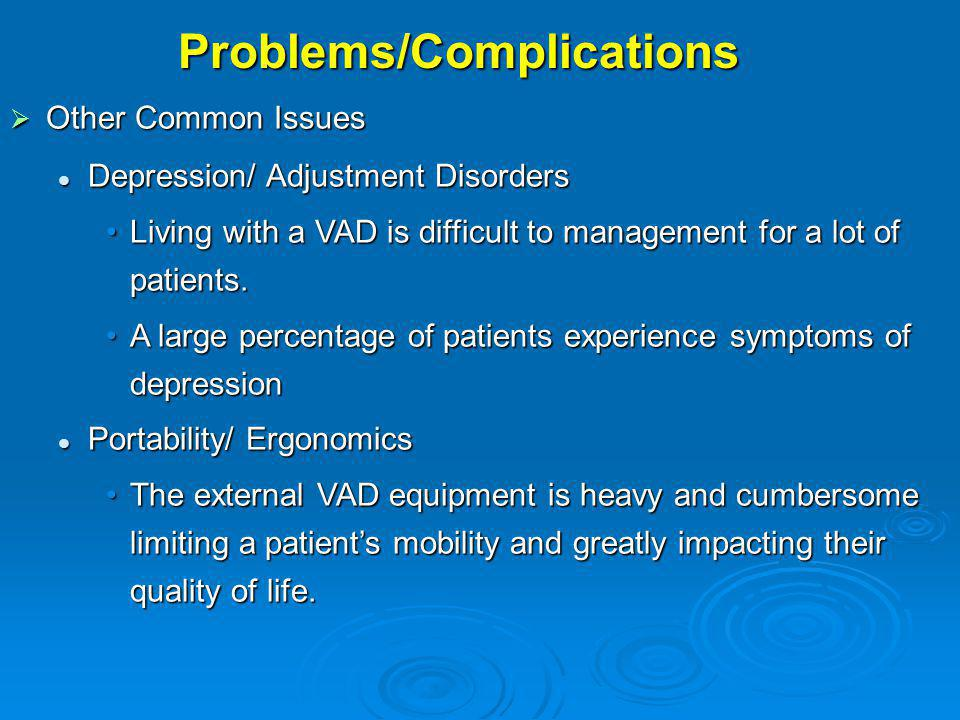 Problems/Complications