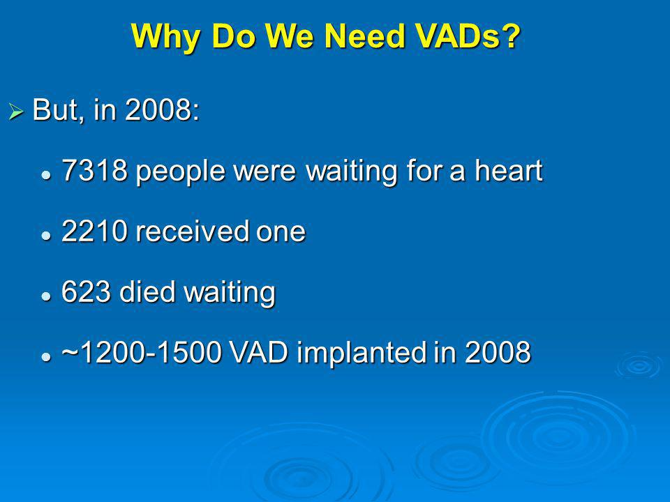 Why Do We Need VADs But, in 2008: