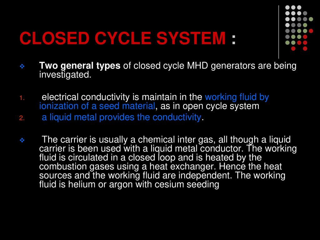 MAGNETO HYDRO DYNAMIC SYSTEMS - ppt download