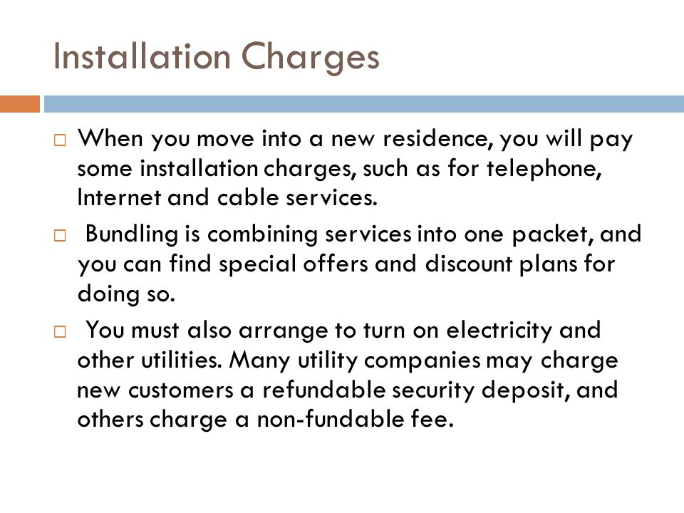 Installation Charges