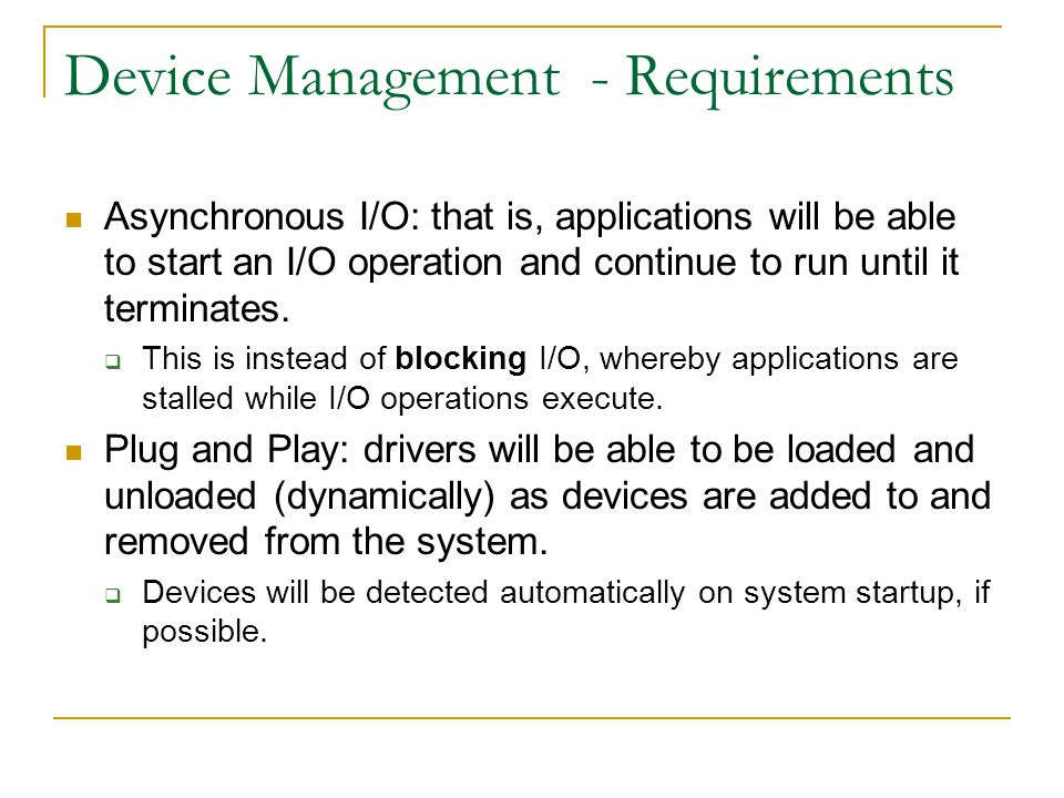 Device Management - Requirements