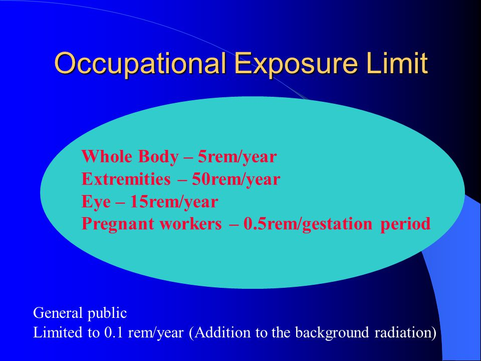Occupational Exposure Limit