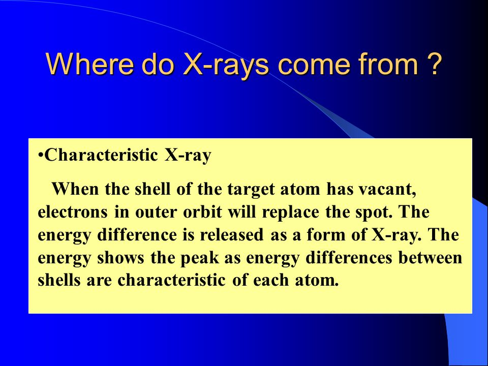 Where do X-rays come from