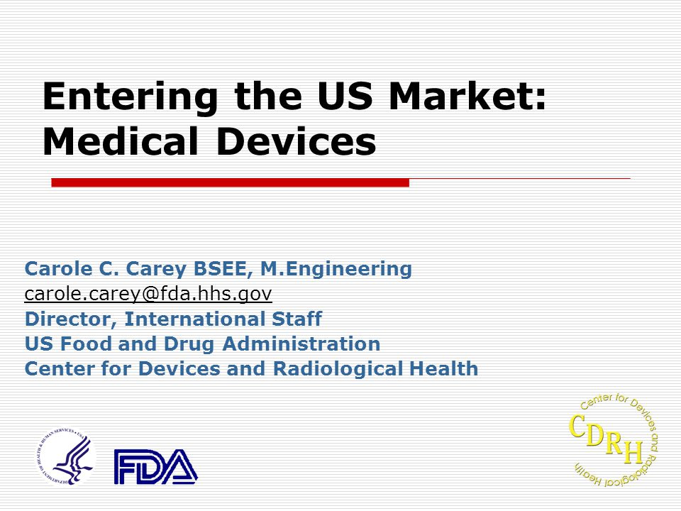 Entering the US Market: Medical Devices