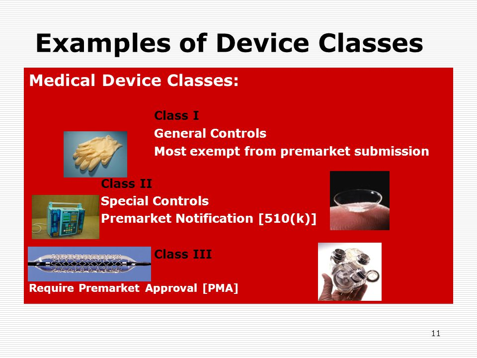 Examples of Device Classes