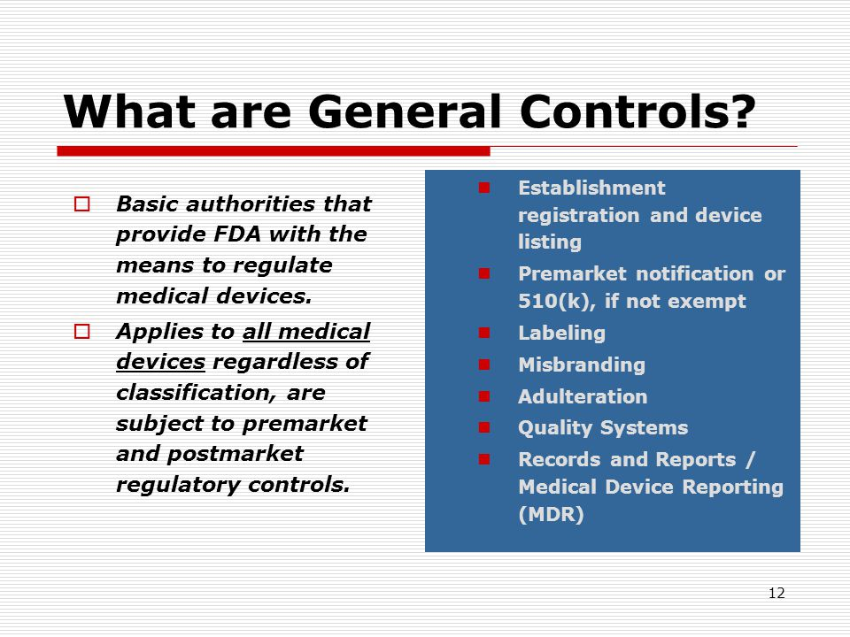 What are General Controls