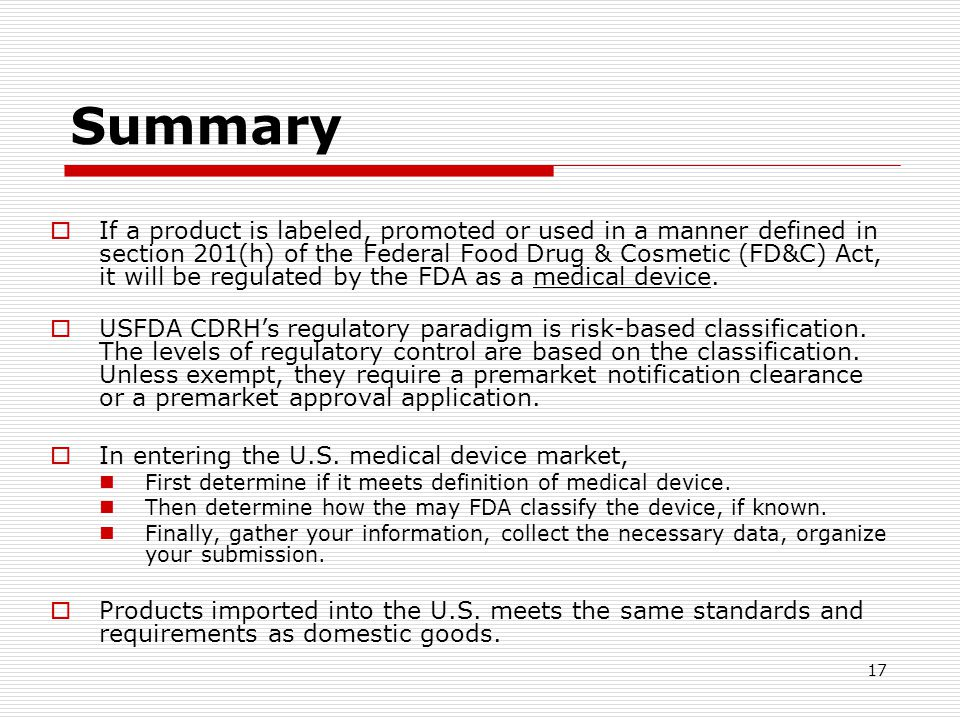 Entering the US Market: Medical Devices - ppt video online