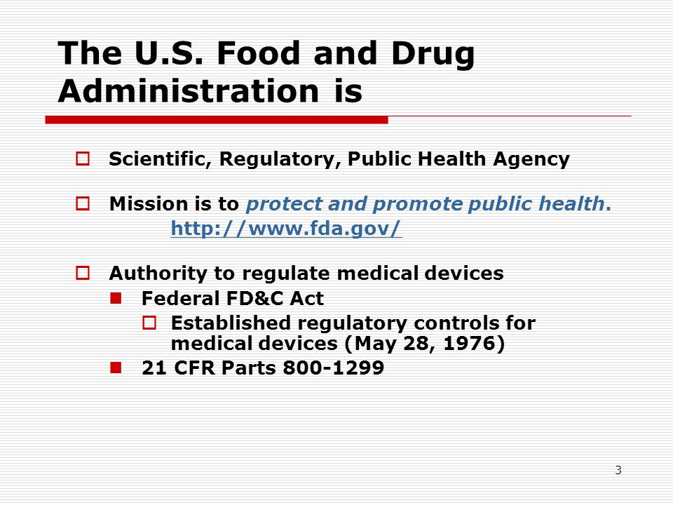 The U.S. Food and Drug Administration is