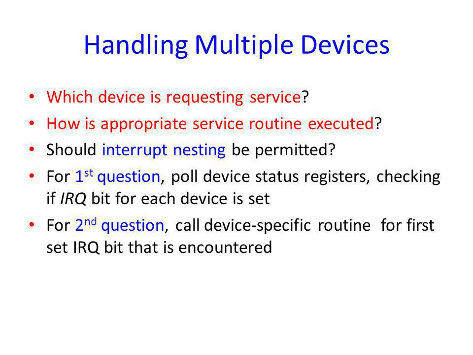 Handling Multiple Devices