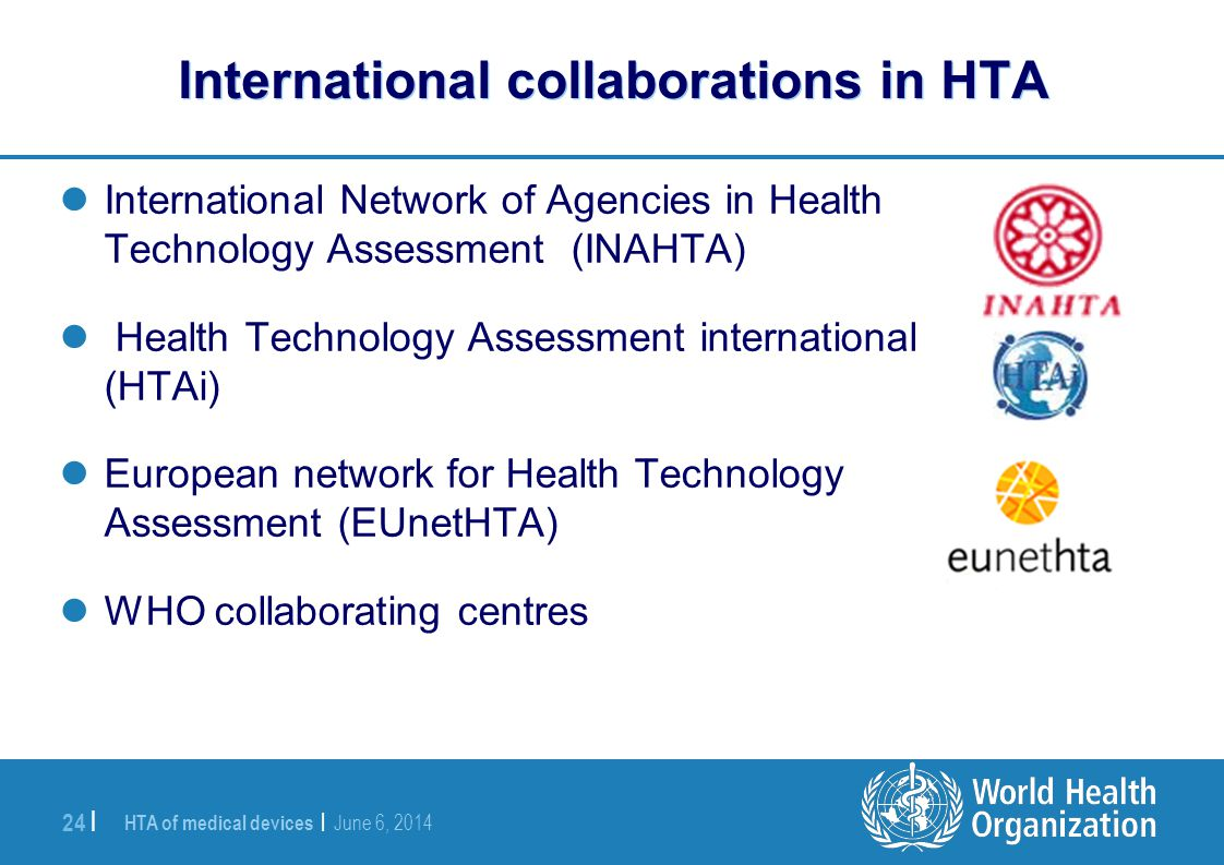 International collaborations in HTA