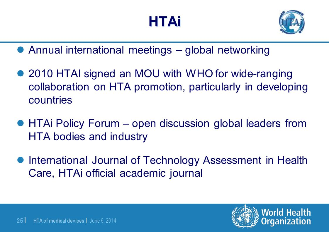HTAi Annual international meetings – global networking