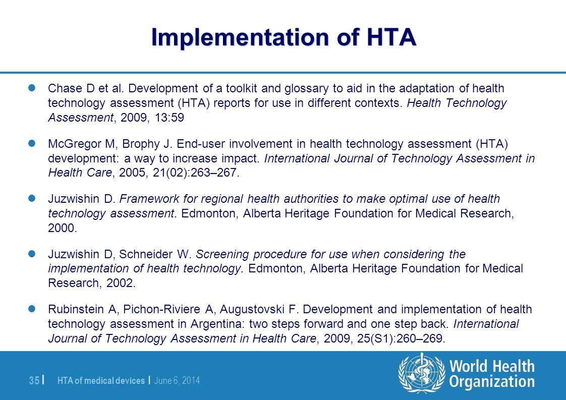 Implementation of HTA