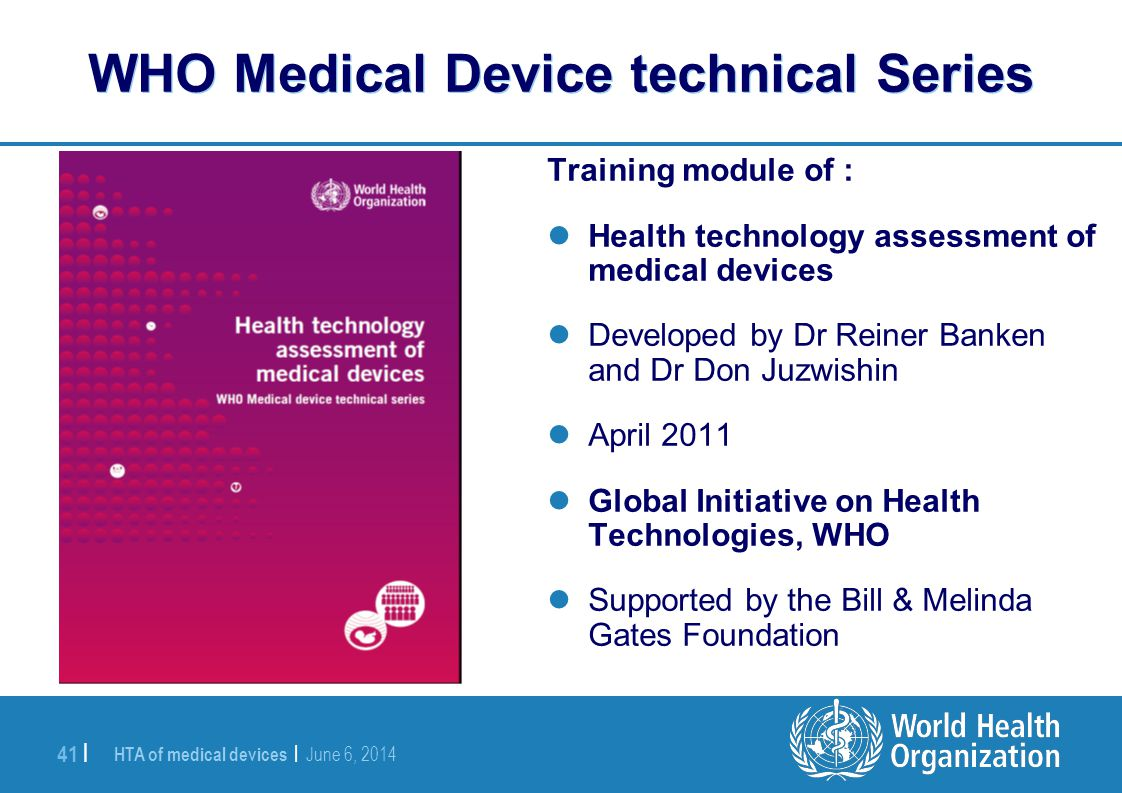 WHO Medical Device technical Series