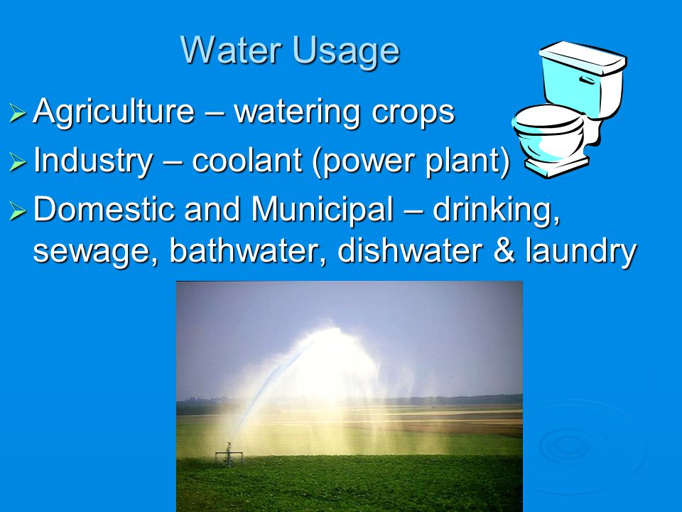 Water Usage Agriculture – watering crops