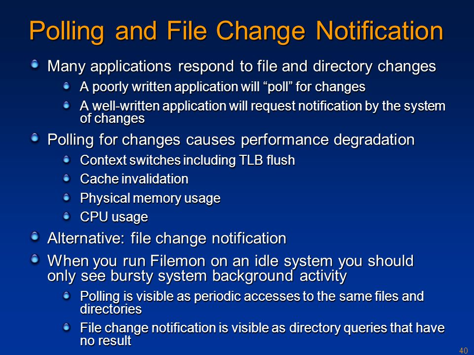 Polling and File Change Notification