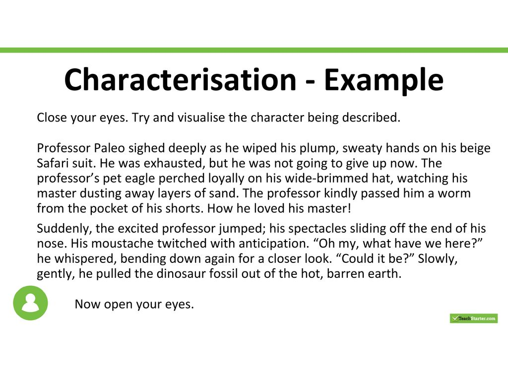 How to write a characterisation example write a file using perl