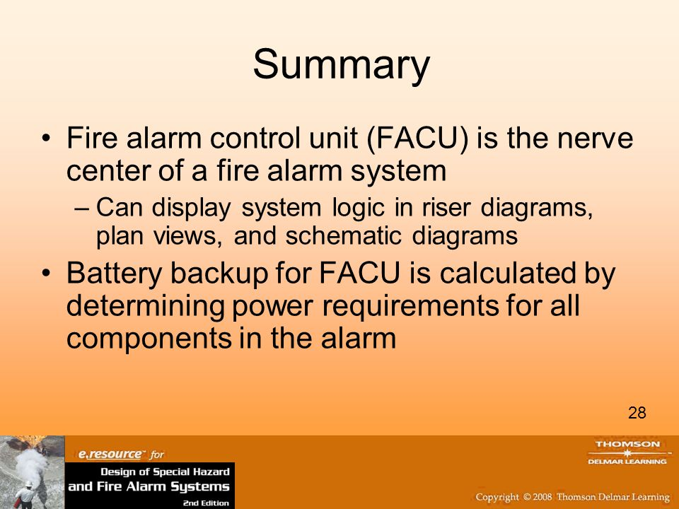 Summary Fire alarm control unit (FACU) is the nerve center of a fire alarm system.