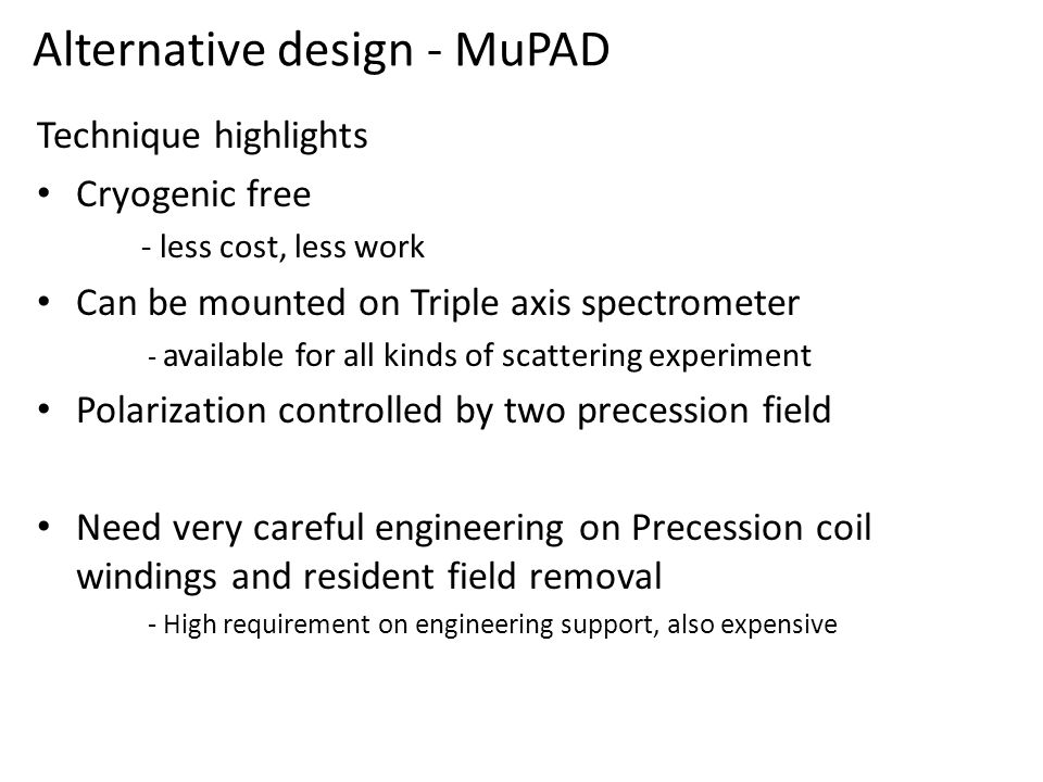 Alternative design - MuPAD