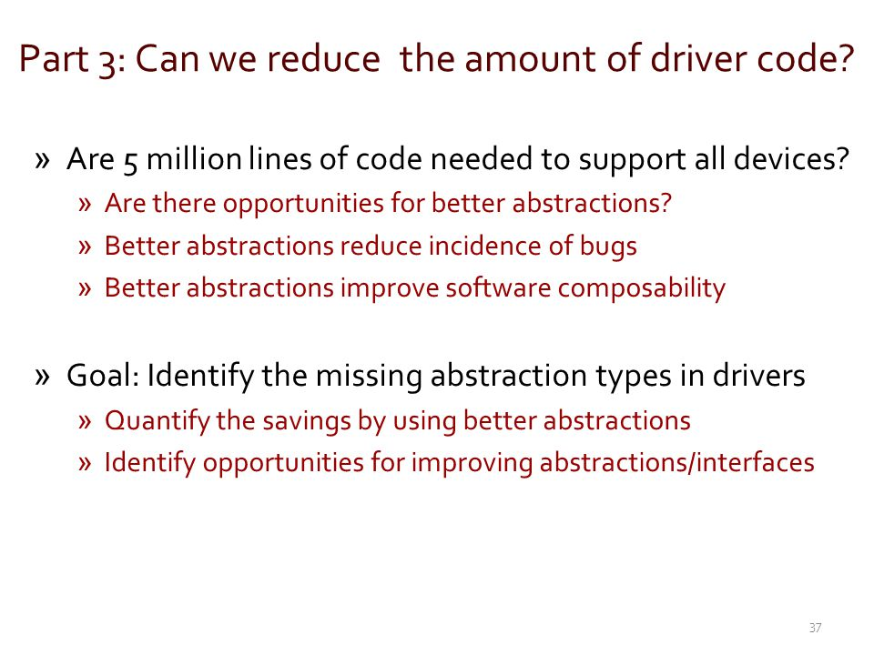 Part 3: Can we reduce the amount of driver code