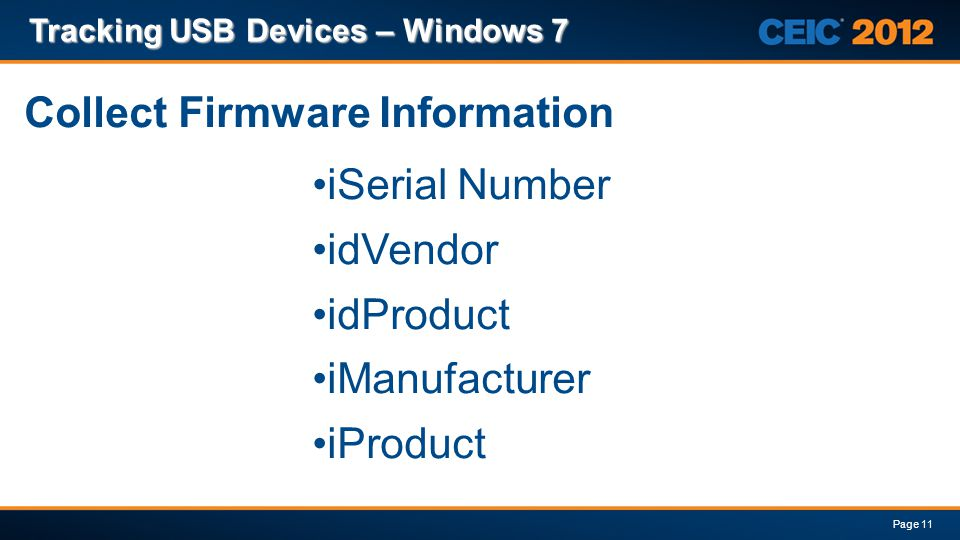 Collect Firmware Information