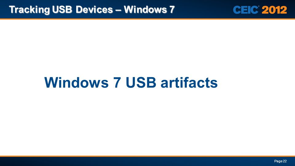 Windows 7 USB artifacts Tracking USB Devices – Windows 7