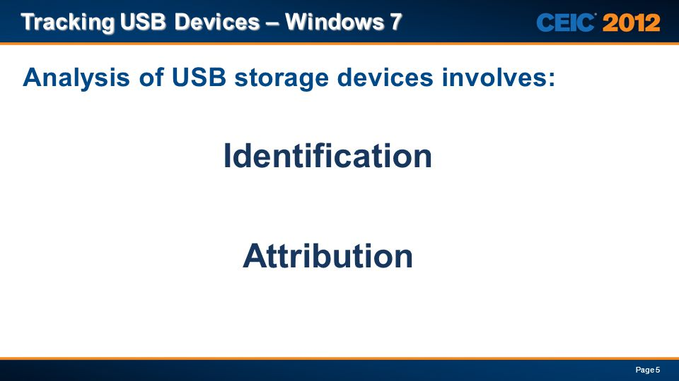 Analysis of USB storage devices involves:
