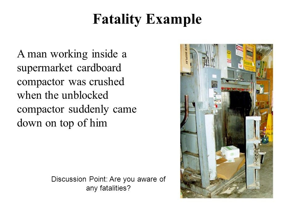 Discussion Point: Are you aware of any fatalities