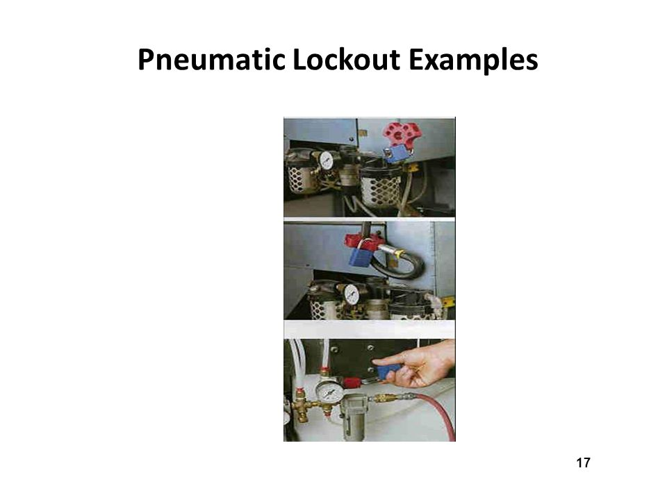 Pneumatic Lockout Examples