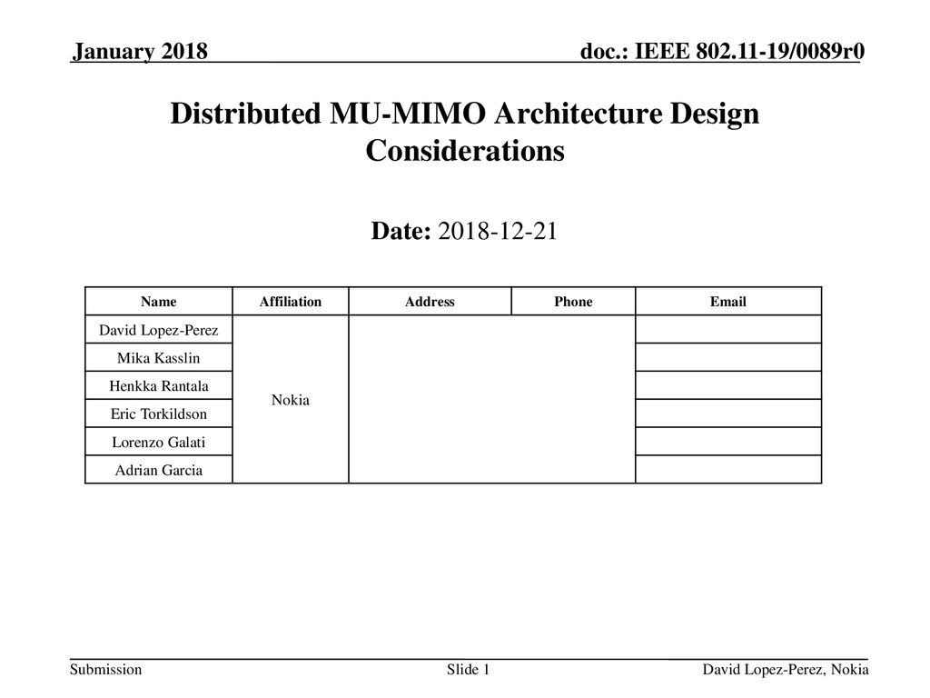 Distributed MU-MIMO Architecture Design Considerations - ppt download